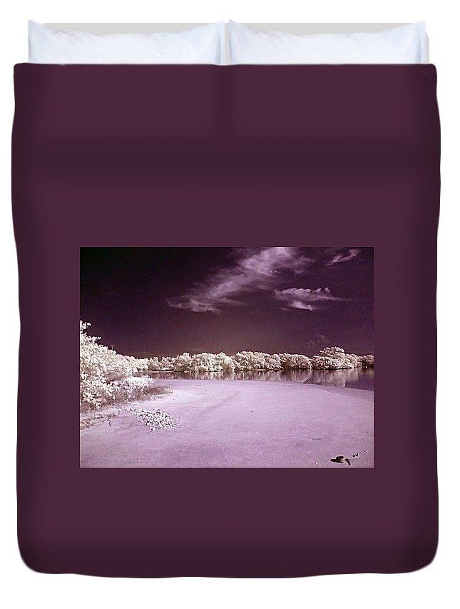 Landscape Duvet Cover featuring the photograph Seascape by Galeria Trompiz