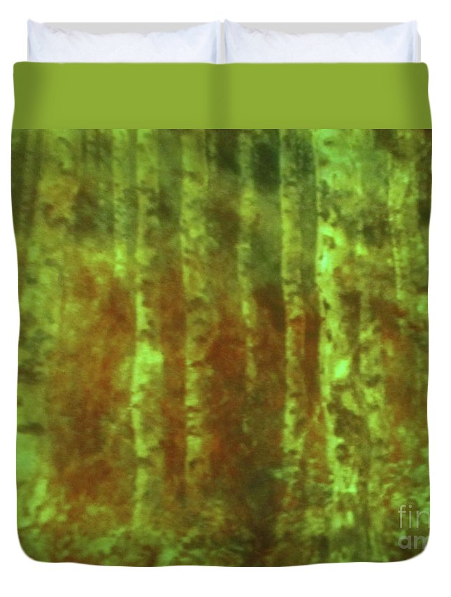 Secret Forest Duvet Cover featuring the photograph Secret Forest by Randall Weidner