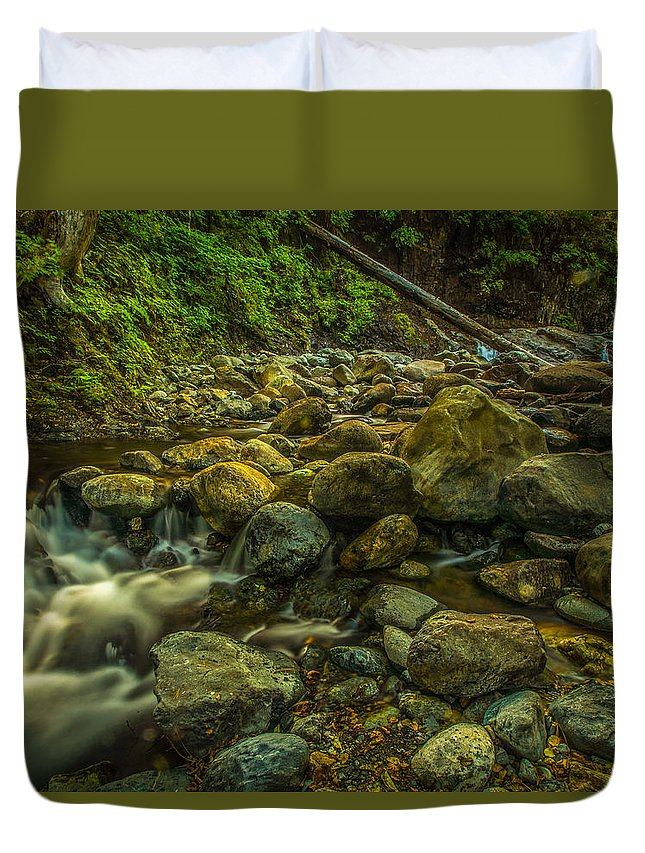 Shackleford Duvet Cover featuring the photograph Shackleford Falls by Michele James