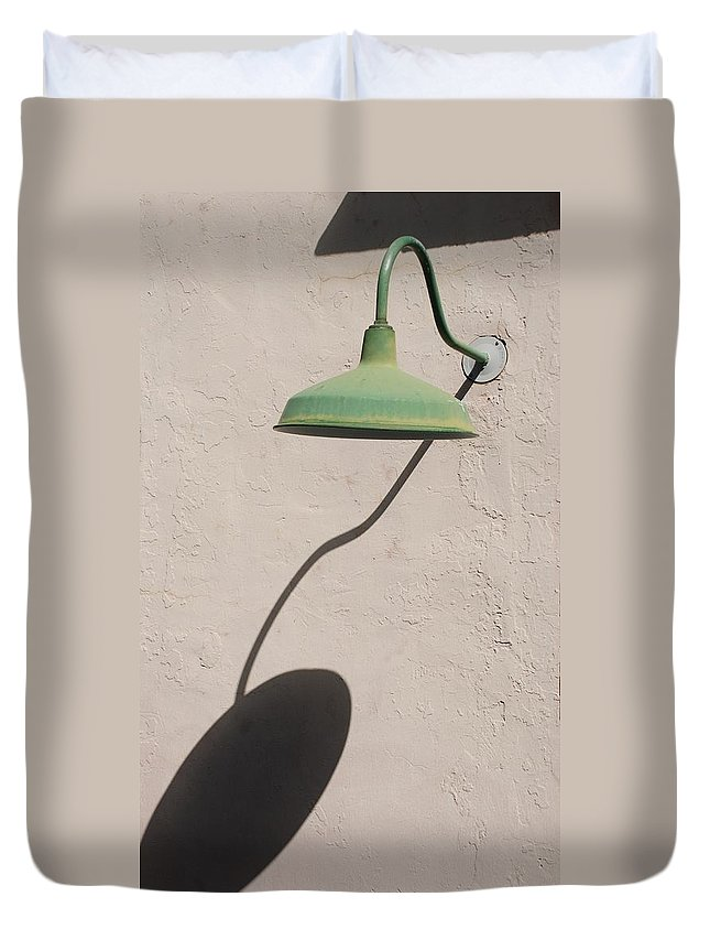 Art Duvet Cover featuring the photograph Shadow Lamp by Rob Hans