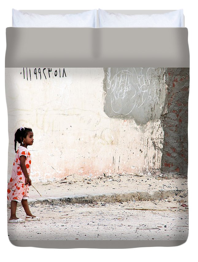 Hurghada Duvet Cover featuring the photograph She's On Her Way by Jez C Self
