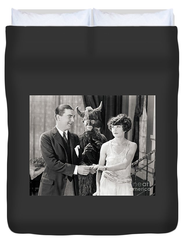 -couples- Duvet Cover featuring the photograph Silent Still: Couples by Granger