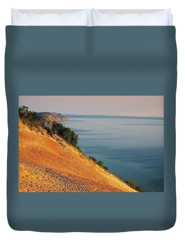 Sand Duvet Cover featuring the photograph Sleeping Bear Dunes by Randy Pollard