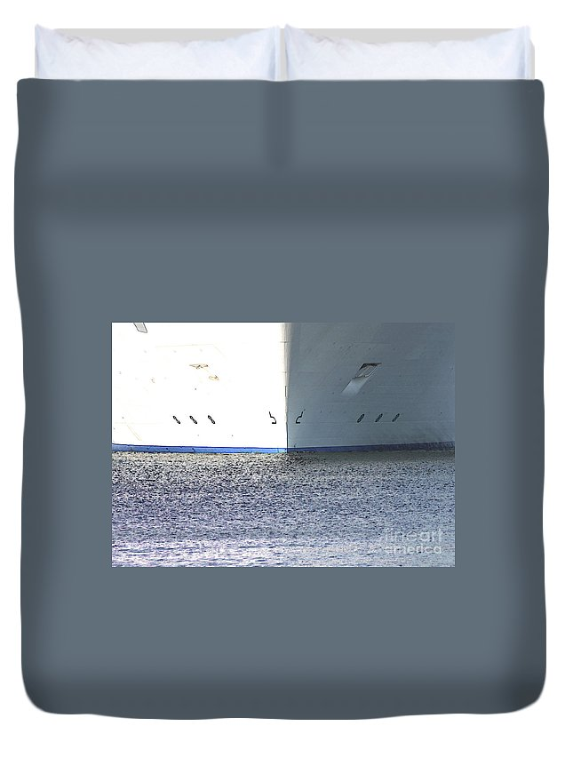 Ship Duvet Cover featuring the photograph Smooth Sailing by Carol Groenen