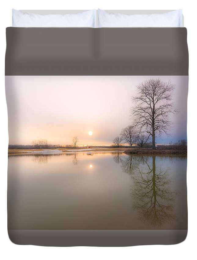 Sunset Duvet Cover featuring the photograph Soft Sunset by Everet Regal