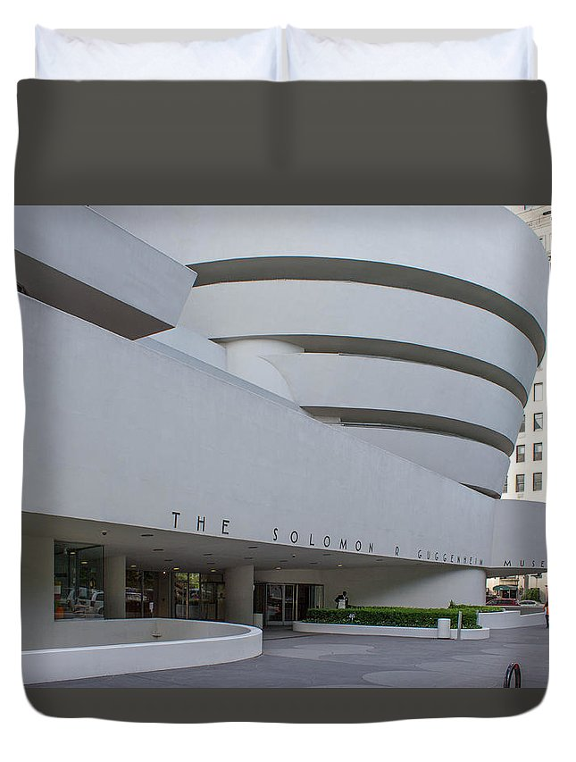 Architecture Duvet Cover featuring the photograph Solomon S Guggenheim Museum by Kenneth Grant