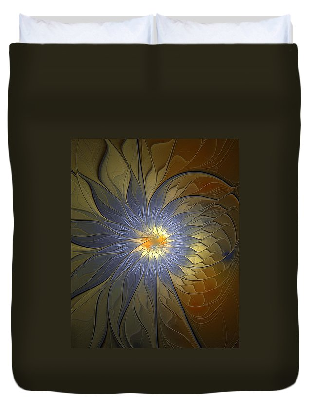 Digital Art Duvet Cover featuring the digital art Something Blue by Amanda Moore