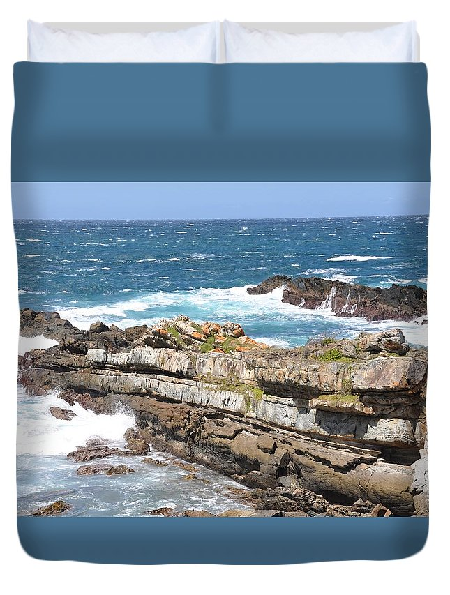 Beach Duvet Cover featuring the photograph South Africa by FL collection