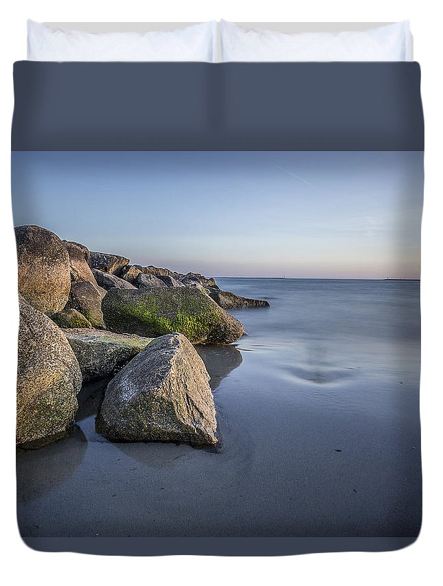 South County Duvet Cover featuring the photograph South County Sunset by Billy Bateman
