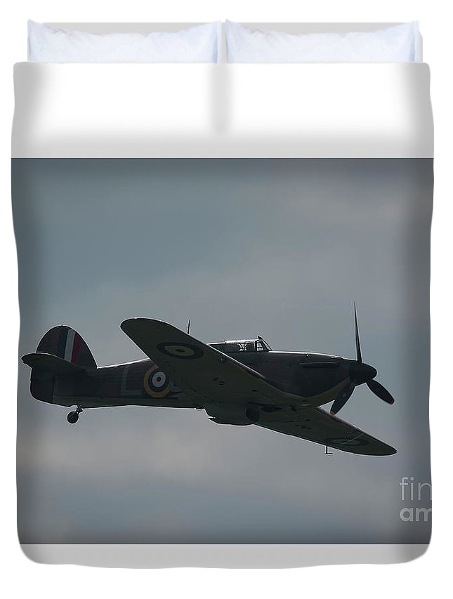Spitfire Duvet Cover featuring the photograph Spitfire by Philip Pound