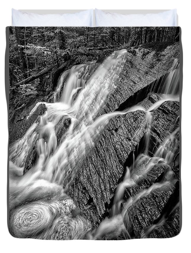 Waterfall Duvet Cover featuring the photograph Spring Cascades #3 by Irwin Barrett