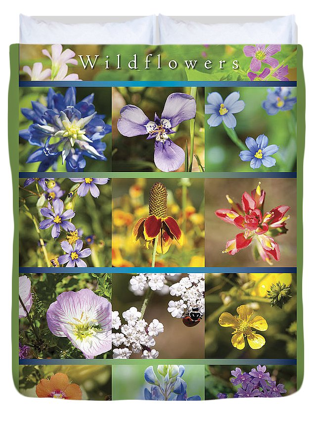 Wildflowers Duvet Cover featuring the photograph Spring Wildflowers II by Stephen Anderson