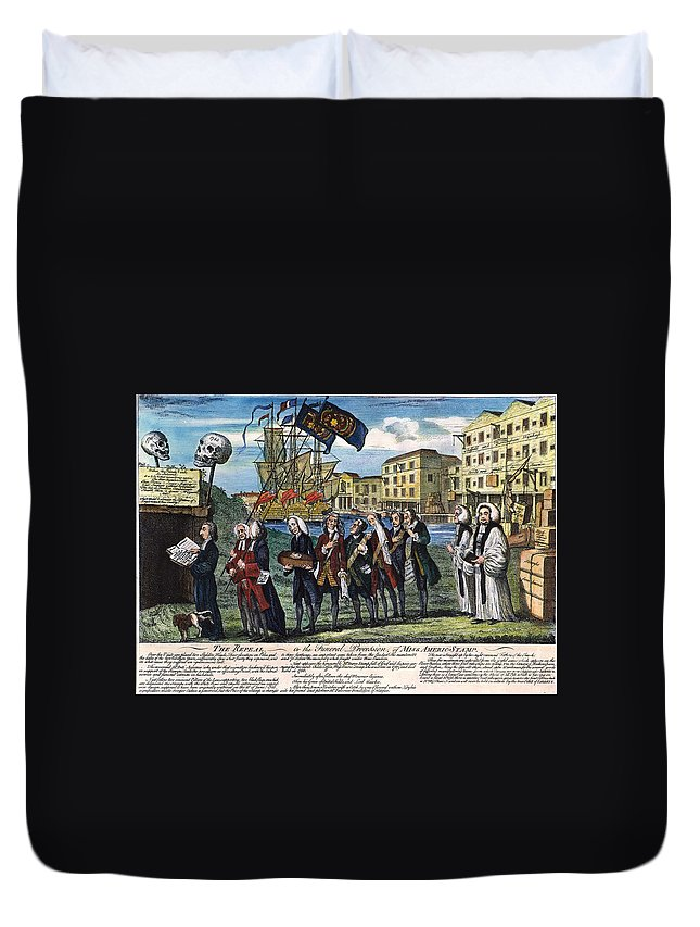 1766 Duvet Cover featuring the photograph Stamp Act: Repeal, 1766 by Granger