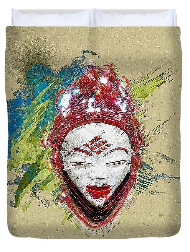 Star Spirits By Serge Averbukh Duvet Cover featuring the photograph Star Spirits - Maiden Spirit Mukudji by Serge Averbukh