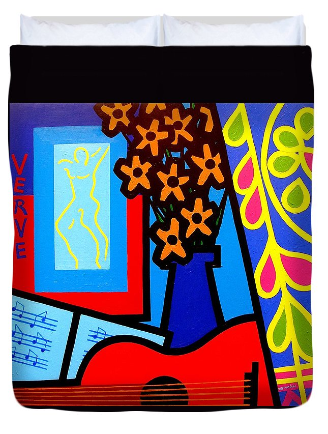 Ireland Duvet Cover featuring the painting Still Life With Henri Matisse's Verve by John Nolan