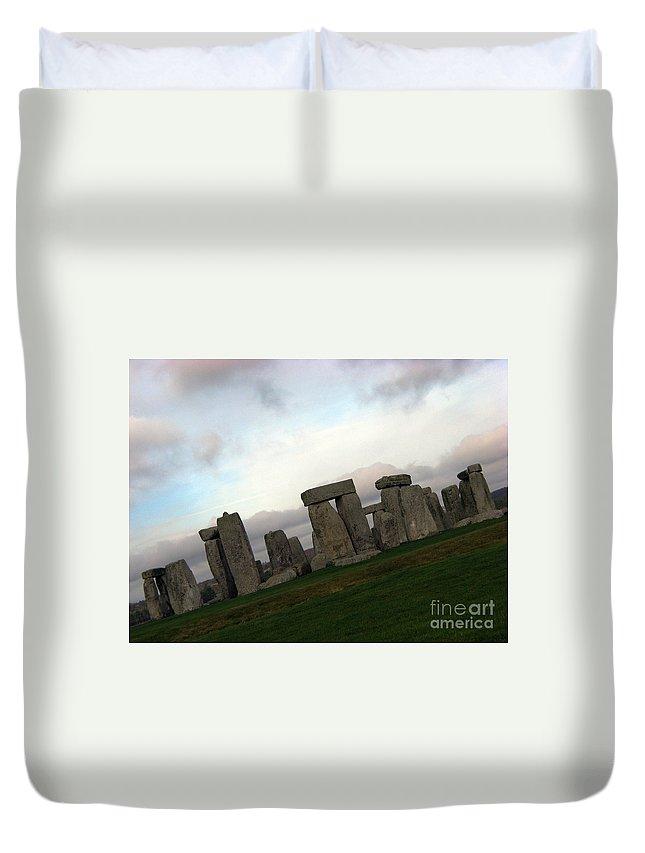 Stonehenge Duvet Cover featuring the photograph Stonehenge by Amanda Barcon