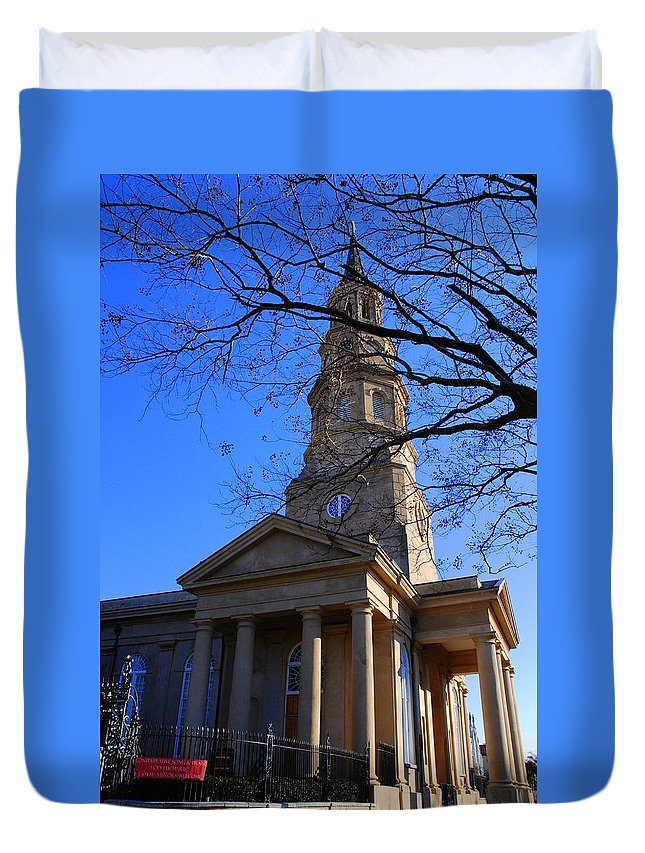 Photography Duvet Cover featuring the photograph St.philips Episcopal Church In Charleston Sc by Susanne Van Hulst