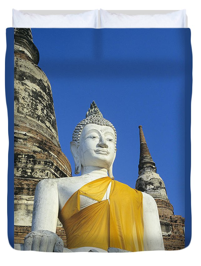 Ancient Duvet Cover featuring the photograph Sukhothai Historical Park by Gloria & Richard Maschmeyer - Printscapes