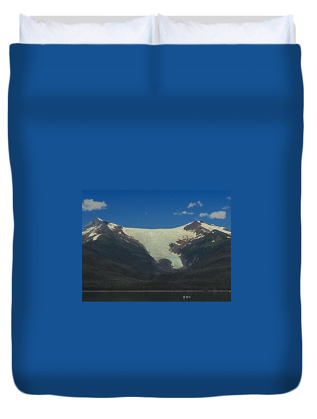 Sumdum Duvet Cover featuring the photograph Sumdum Glacier by NaturesPix