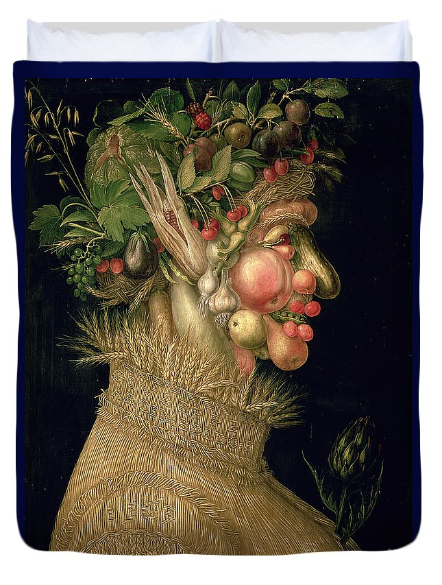 Summer Duvet Cover featuring the painting Summer by Giuseppe Arcimboldo