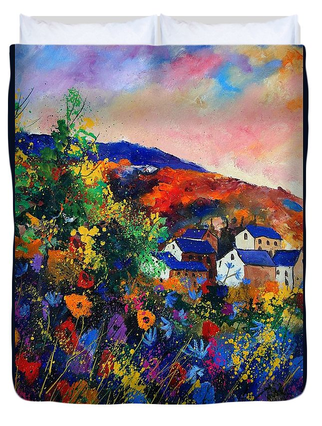 Landscape Duvet Cover featuring the painting Summer by Pol Ledent