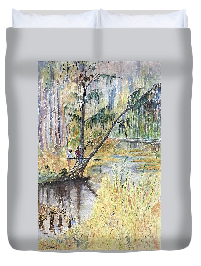 Low Country Duvet Cover featuring the painting Summertime by Ben Kiger