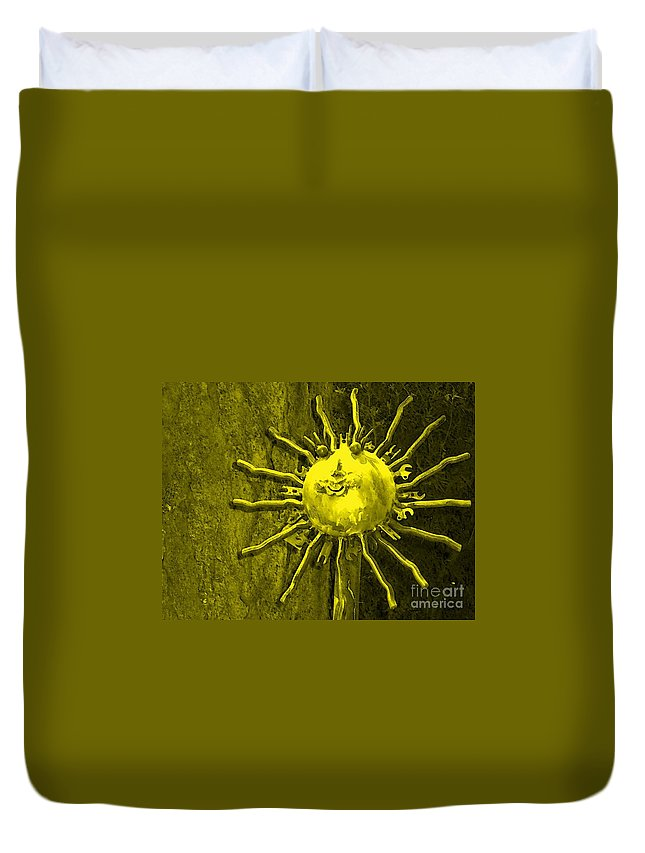 Sun Duvet Cover featuring the photograph Sun Tool by Debbi Granruth