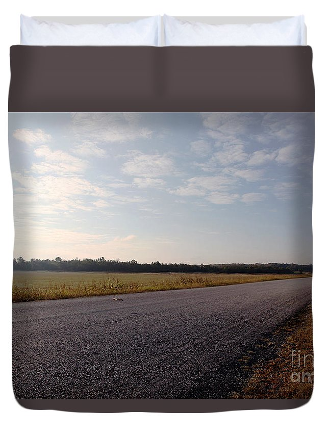 Streets Duvet Cover featuring the photograph Sunday Drive by Amanda Barcon