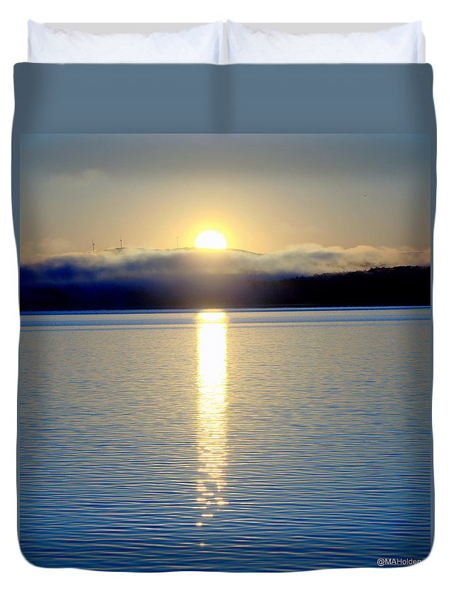 Sunrise Malletts Bay Duvet Cover featuring the photograph Sunrise 6 8 17 Malletts Bay by Mark Holden