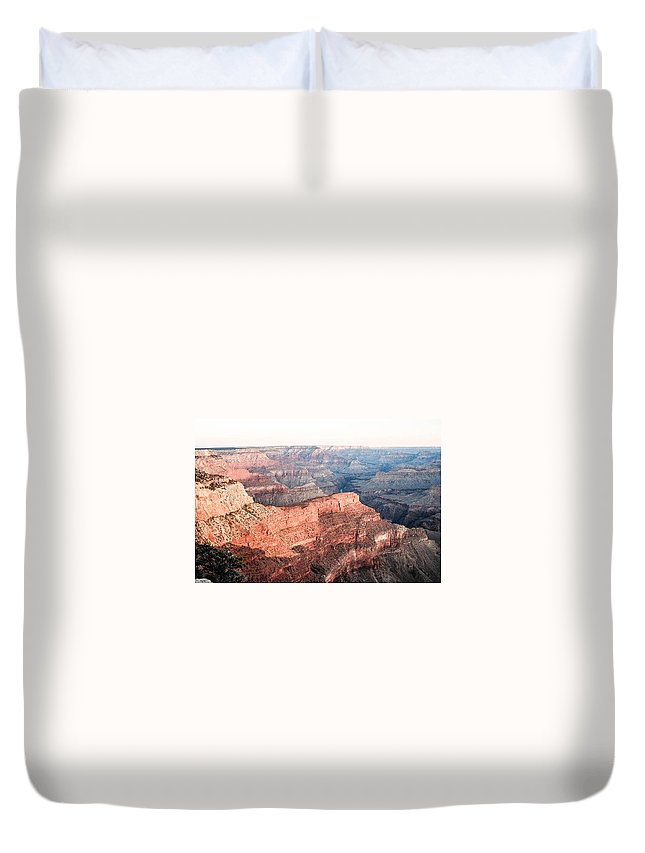 Sunrise Duvet Cover featuring the photograph Sunrise At Pima Point by Mike Wheeler