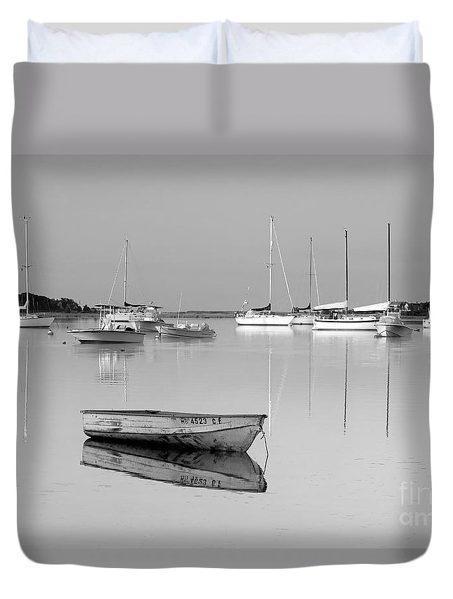 Sunrise Duvet Cover featuring the photograph Sunrise In Osterville Cape Cod Massachusetts by Matt Suess