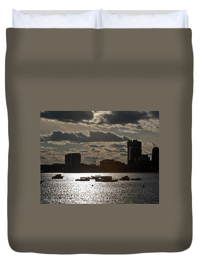 Cloud Duvet Cover featuring the photograph Sunset - 15 by George Phile
