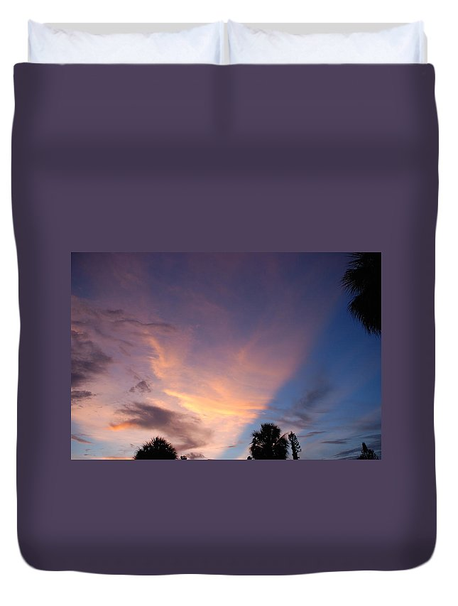 Sunset Duvet Cover featuring the photograph Sunset At Pine Tree by Rob Hans