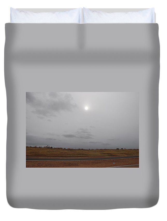 Desert Duvet Cover featuring the photograph Sunset In The Desert by Rob Hans