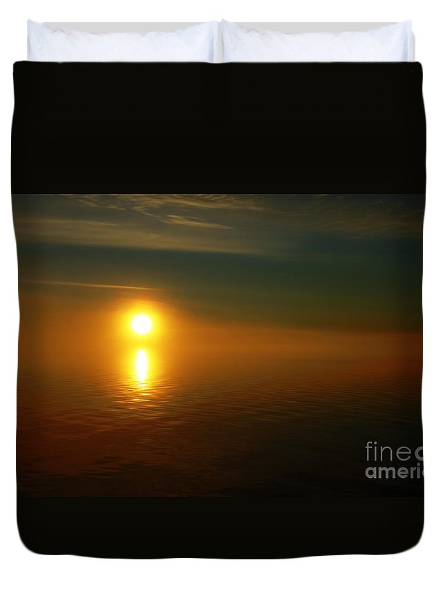 Sunset Duvet Cover featuring the photograph Sunset... by Nina Stavlund