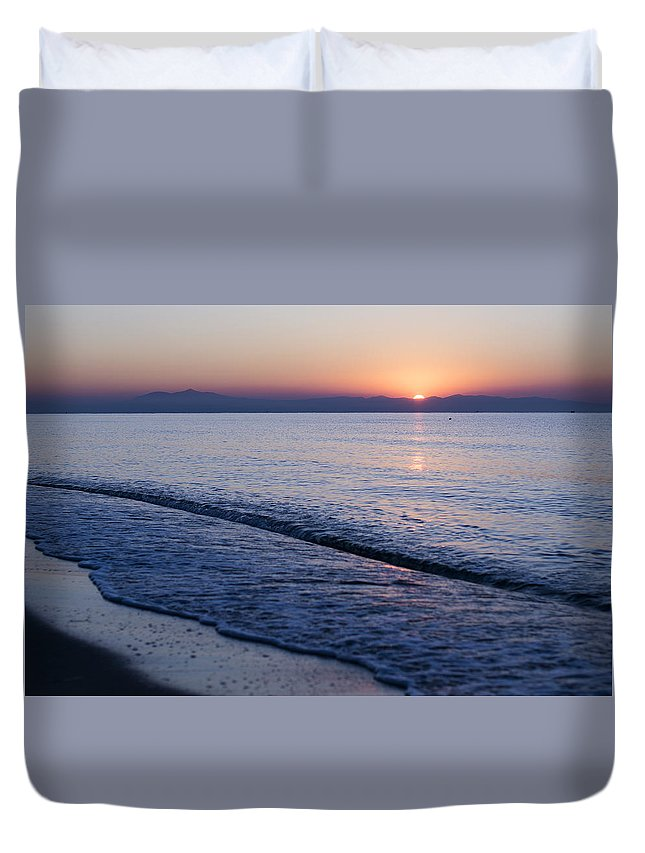 Duvet Cover featuring the photograph Sunset by Simko Ivo Wiliams