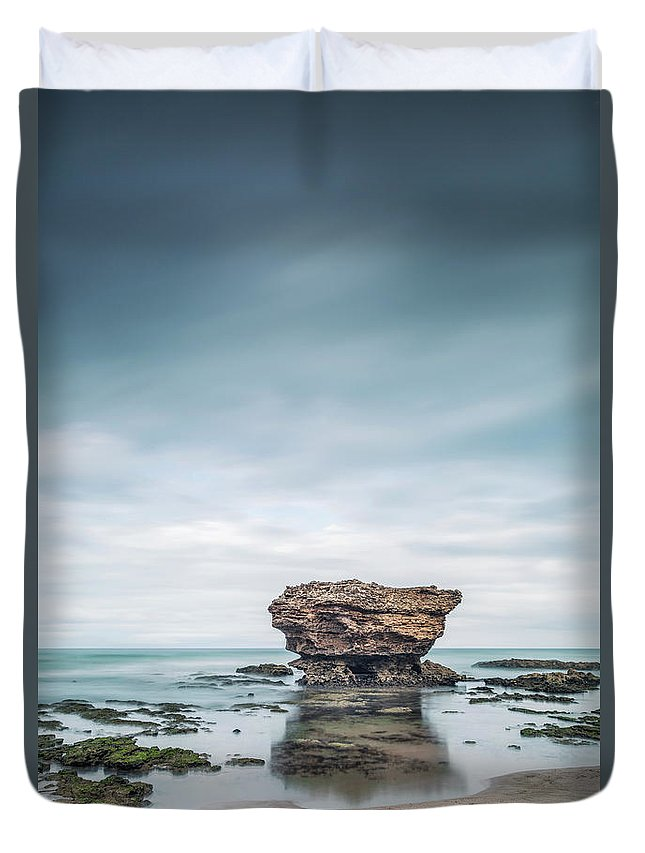Kremsdorf Duvet Cover featuring the photograph Surrender To The Sea by Evelina Kremsdorf
