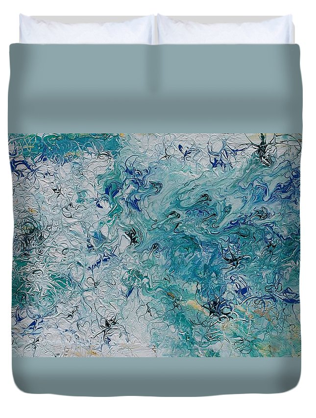 Swell Duvet Cover featuring the painting Swell by Pat Purdy