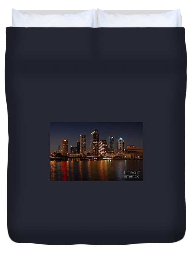 Tampa Duvet Cover featuring the photograph Tampa Florida by David Lee Thompson