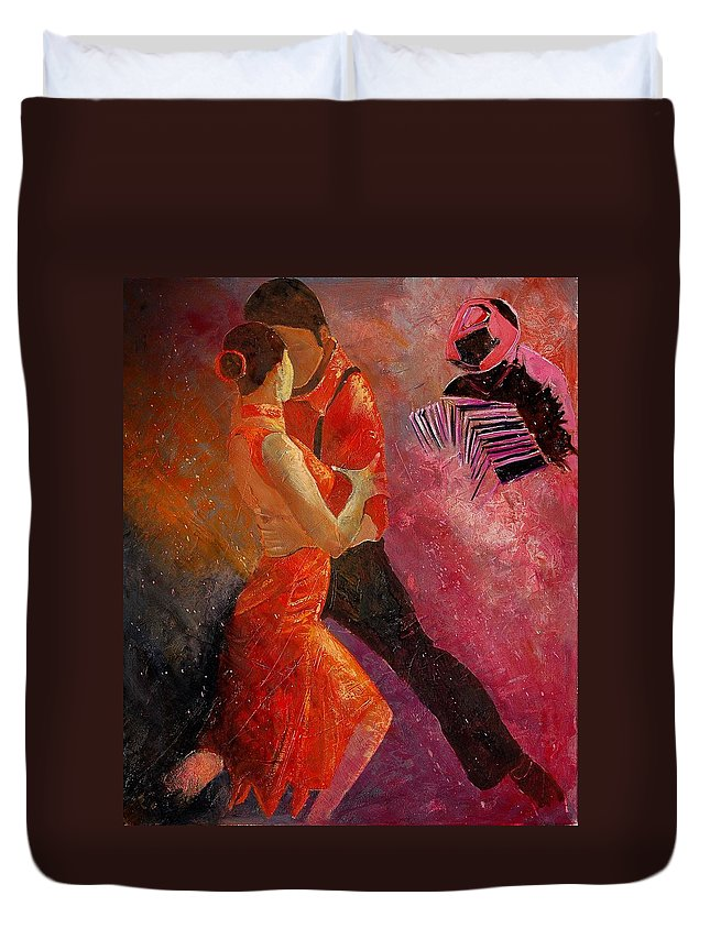Tango Duvet Cover featuring the painting Tango by Pol Ledent