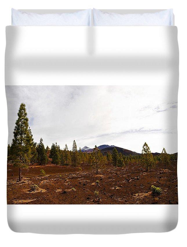 Landscape Duvet Cover featuring the photograph Teide Nr 11 by Jouko Lehto
