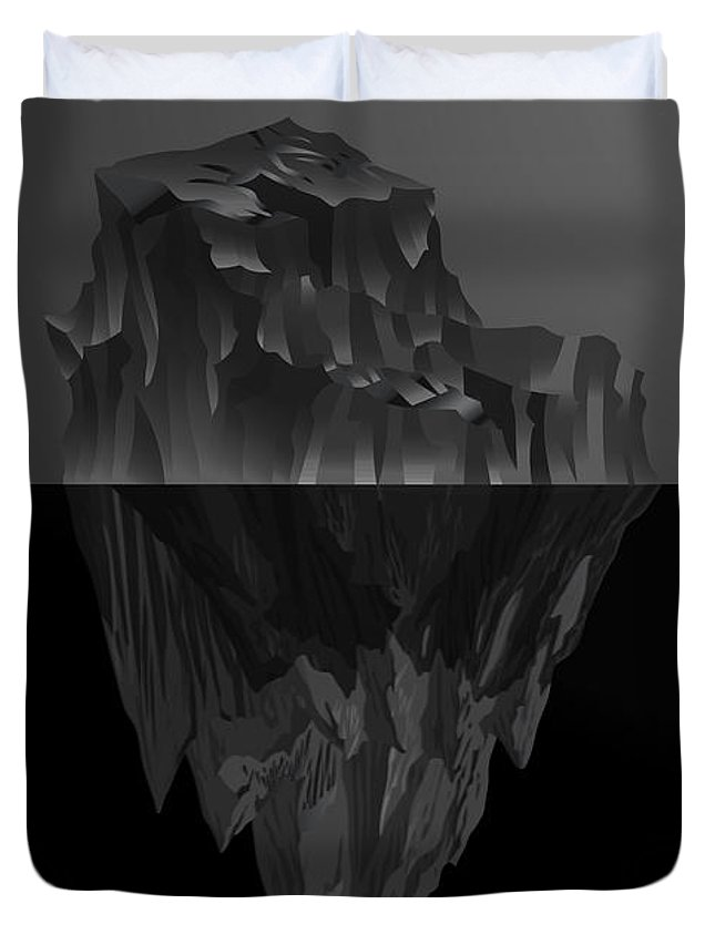 'black On Black' By Serge Averbukh Collection Duvet Cover featuring the photograph The Black Iceberg by Serge Averbukh