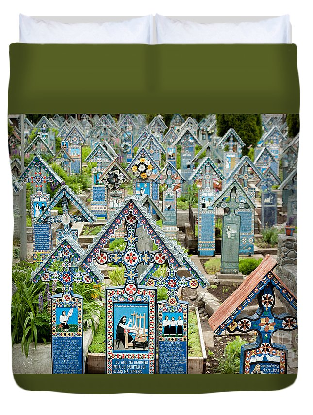 Blue Cemetery Duvet Cover featuring the photograph The Blue Cemetery by Christian Hallweger