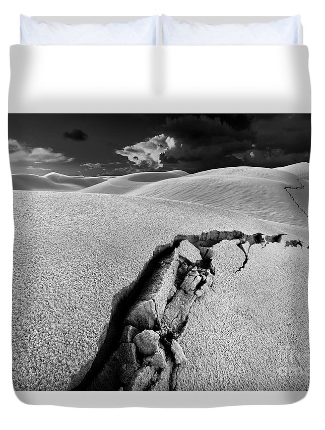 Crack Duvet Cover featuring the photograph The Crack Of Dawn 1 by Julian Cook