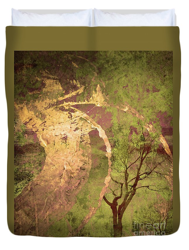 Tree Duvet Cover featuring the photograph The Fallen by Tara Turner
