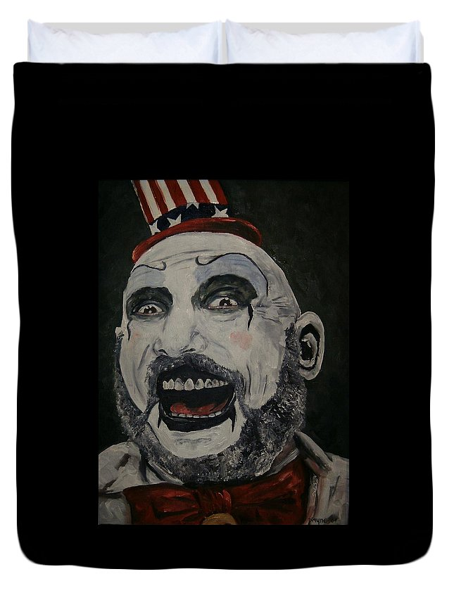 House Of 1000 Corpses Duvet Cover featuring the painting The Good Captain by Deana Smith