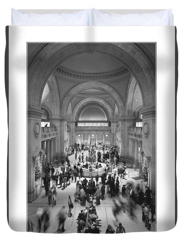 Metropolitan Duvet Cover featuring the photograph The Metropolitan Museum Of Art by Mike McGlothlen
