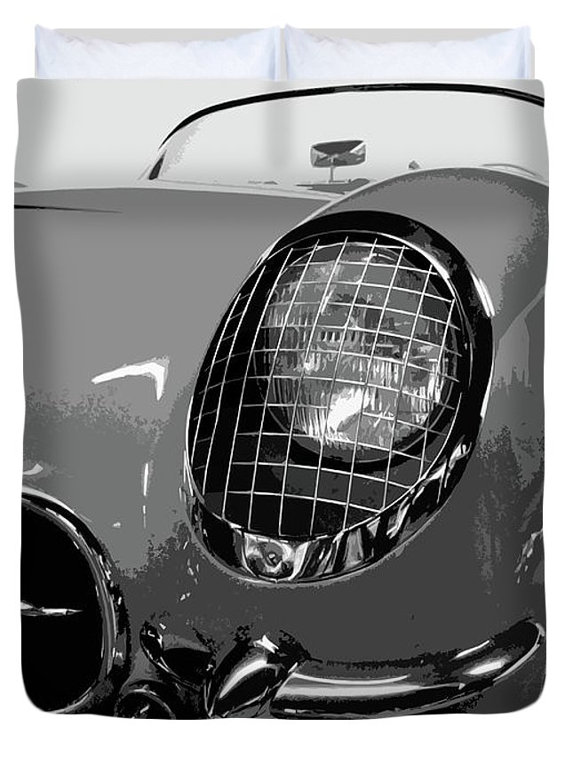 Autos Duvet Cover featuring the photograph The Original Vette by Dick Goodman
