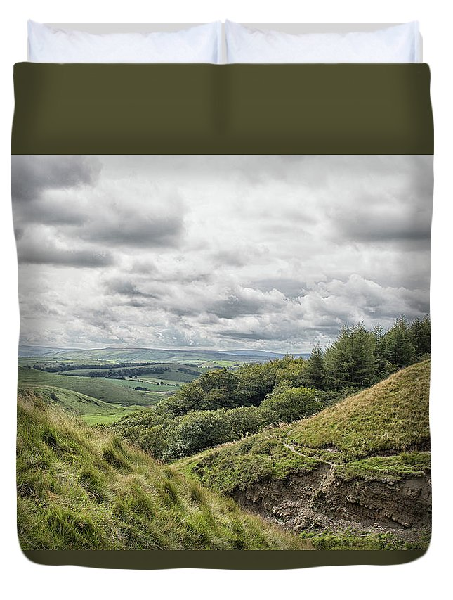 District Duvet Cover featuring the photograph The Peak District by Martin Newman