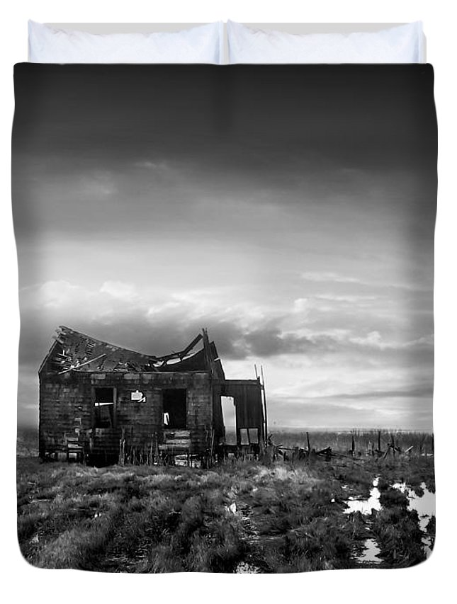 Architecture Duvet Cover featuring the photograph The Shack by Dana DiPasquale